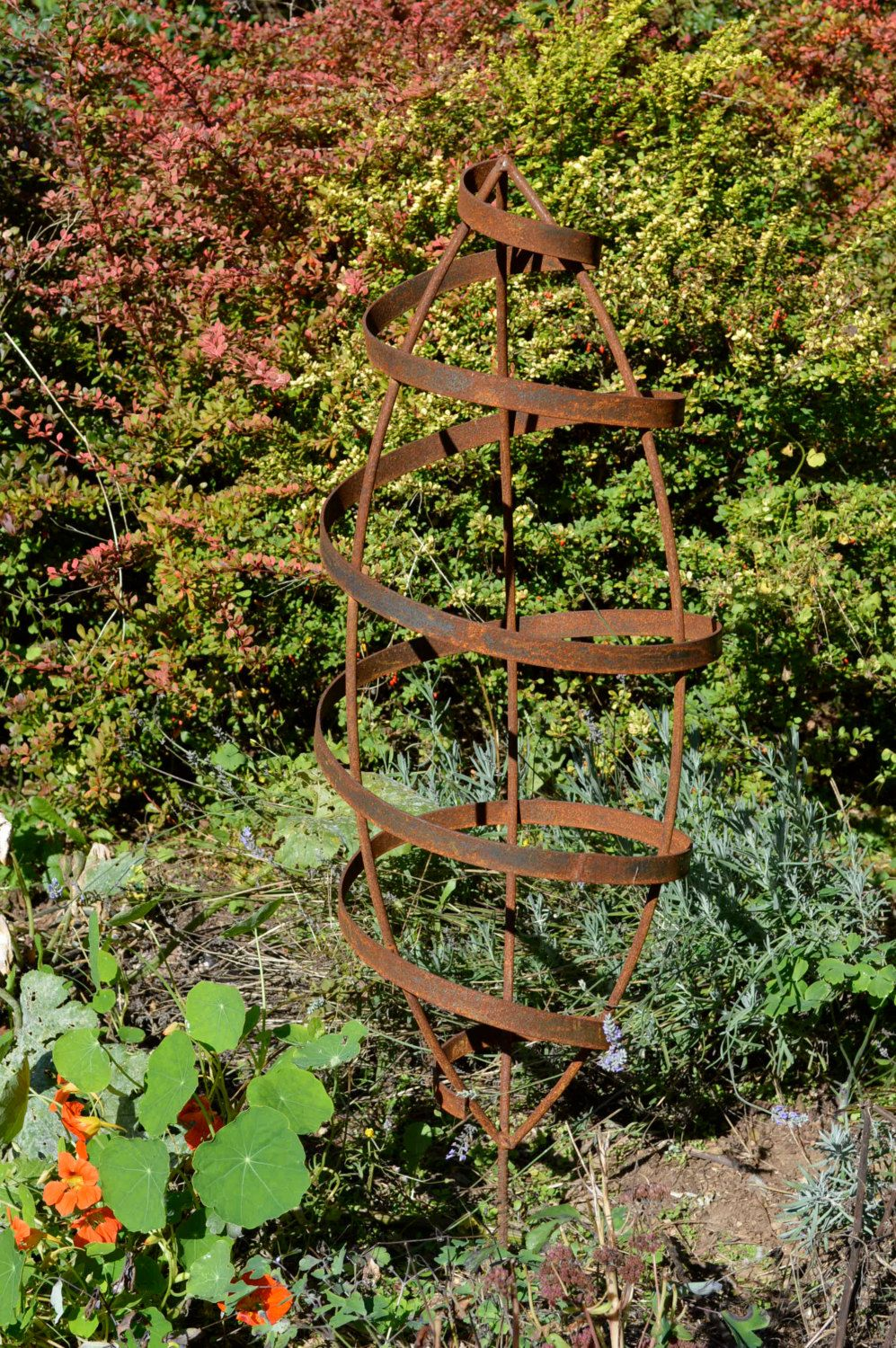 Gentil READY TO SHIP Garden Trellis Seed Pod Art Rustic Sculpture