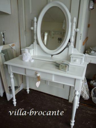 Brocante Kaptafel Met Spiegel.Wit Brocante Kaptafel Met Spiegel Verkocht Brocante Mirrors Home