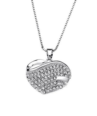 Another great find on #zulily! Swarovski® Crystal & White Gold Pavé Heart Pendant Necklace #zulilyfinds