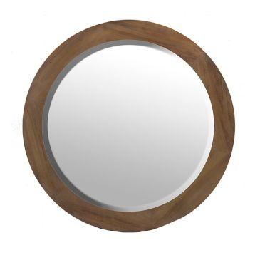 barrick round wood frame mirror decor items pinterest frame