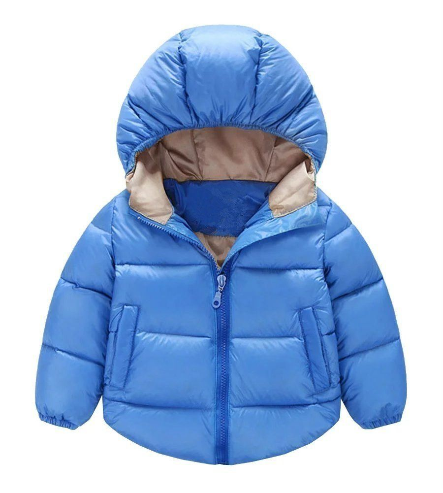 7f9a01ebb8530 Baby Boys Girls Cotton-padded Hooded Coat Light Weight Down Jacket  (3-4Years