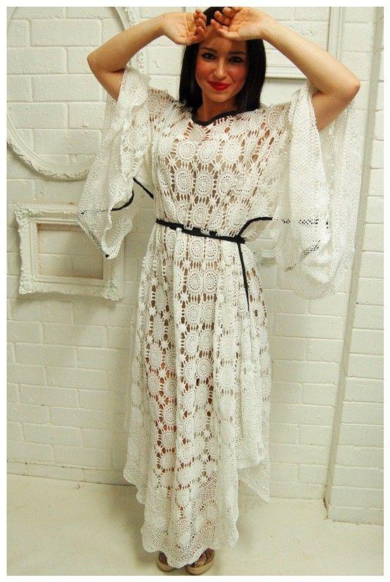 One sleeve plus size white dress