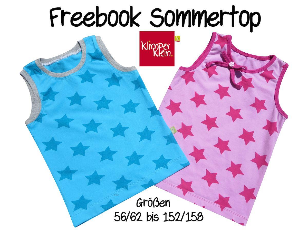 Freebook Sommertop (klimperklein) | Klimperklein, Schnittmuster ...