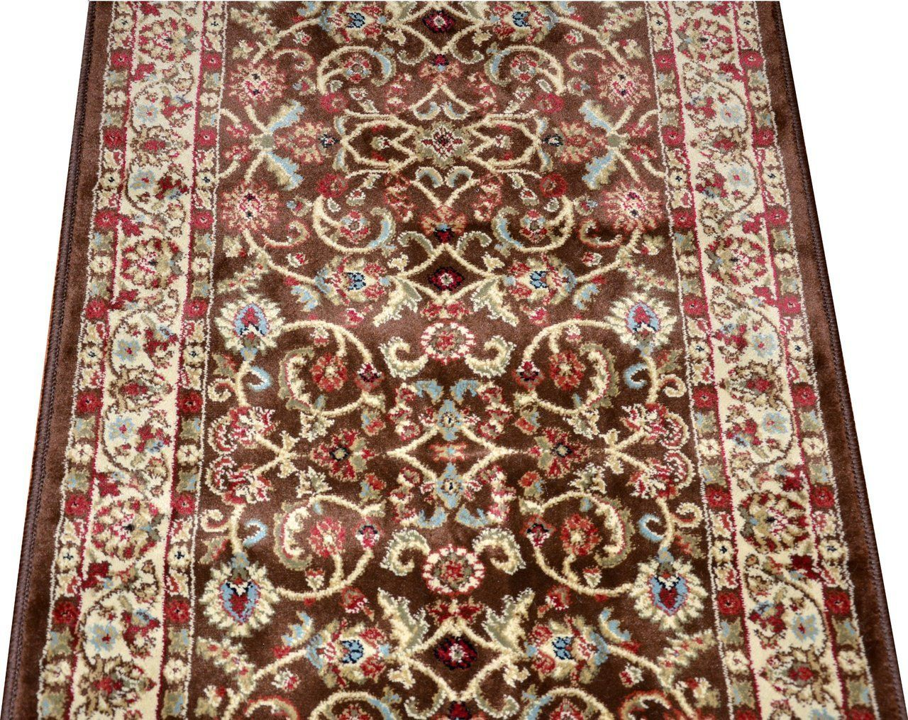 Best Dean Classic Keshan Chocolate Brown Custom Length Carpet 640 x 480