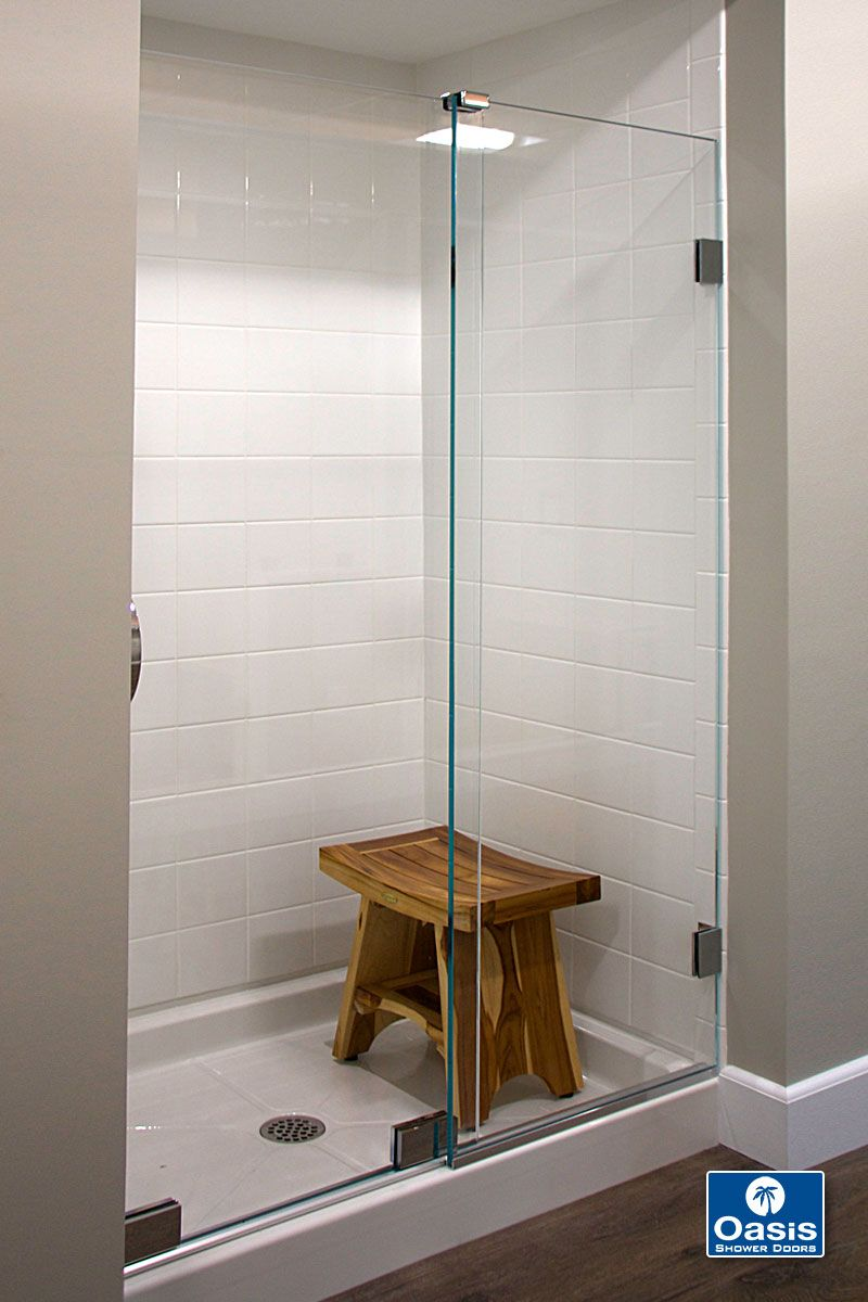 Oasis Essence Slider Features 1 2 Glass And Headless Design With One Fixed Panel And One Shower Sliding Glass Door Shower Doors Frameless Sliding Shower Doors