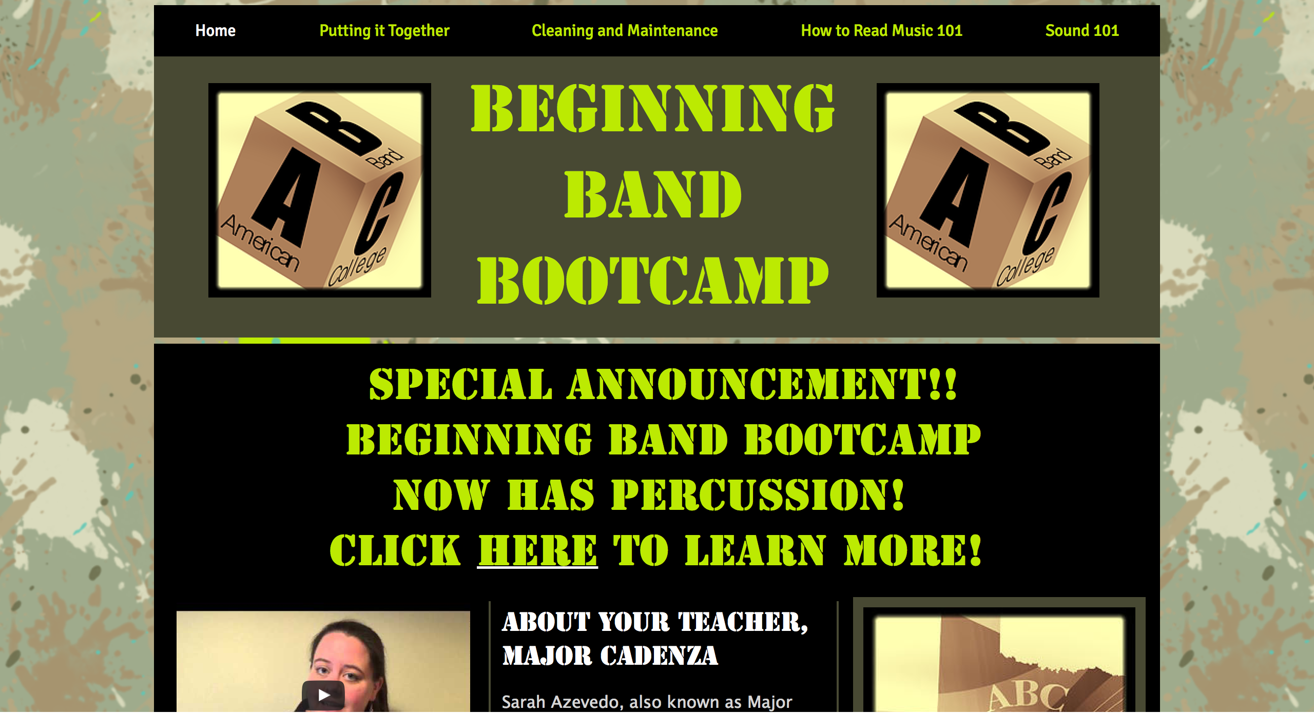 Beginning Band Bootcamp By Sarah Azevedo With Images