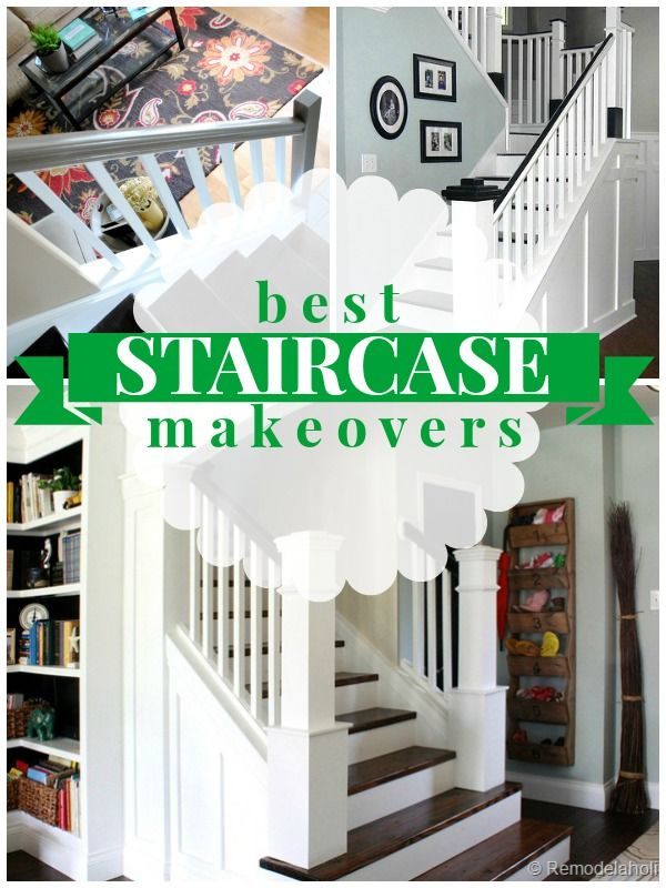 Best Staircase Makeovers On Remodelaholic Com Stairs 400 x 300