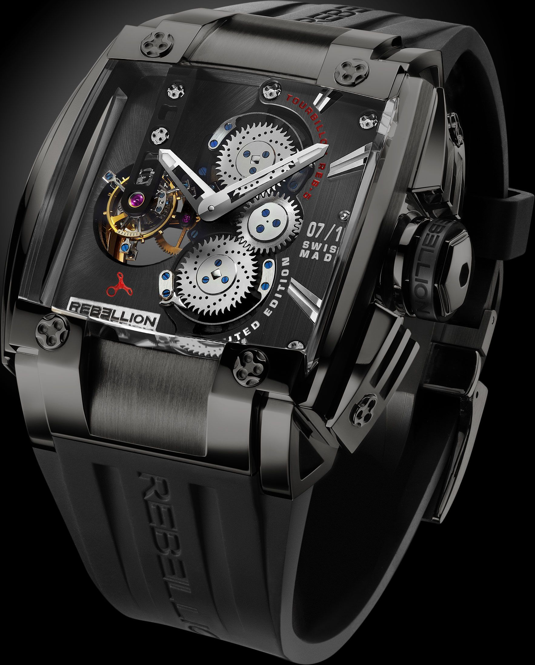 The US$930,000 Rebellion REB-5 Black Diamond – the intersection of jewelery and horology