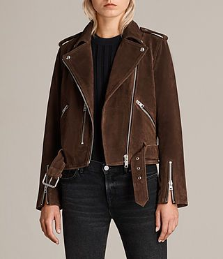 AllSaints Asymmetrical Suede Jacket Authentic For Sale Many Kinds Of Sale Online Free Shipping Cheapest From China Free Shipping Low Price Countdown Package Cheap Price mzqt8V8zEv