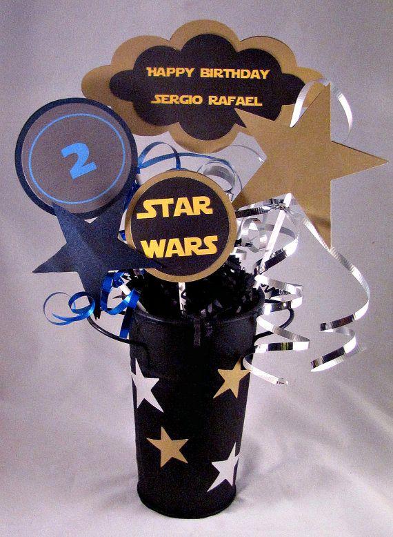 Star Wars Birthday Center Piece by FavorMeDesigns on Etsy, $15.00