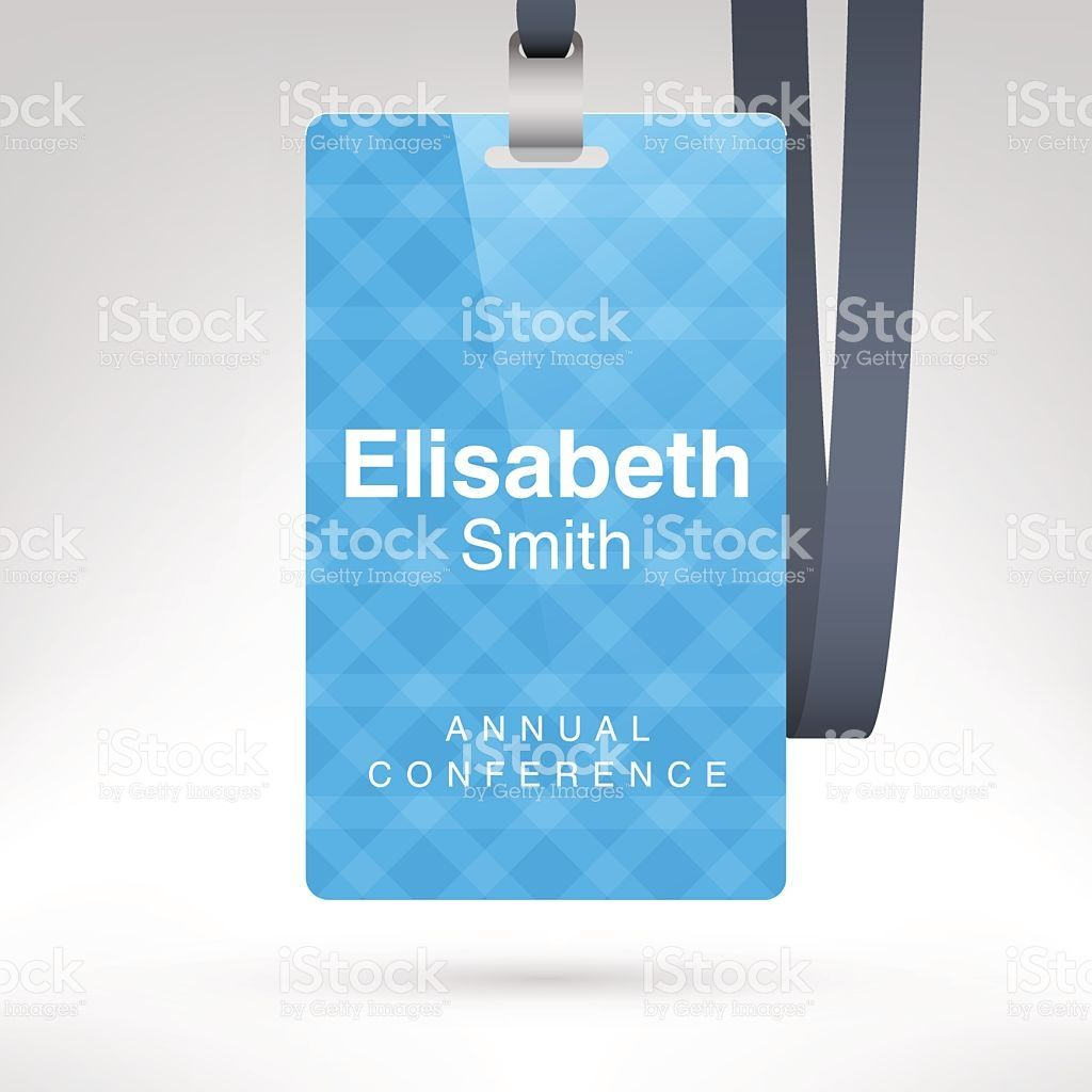 conference badge with name tag placeholder blank badge template in