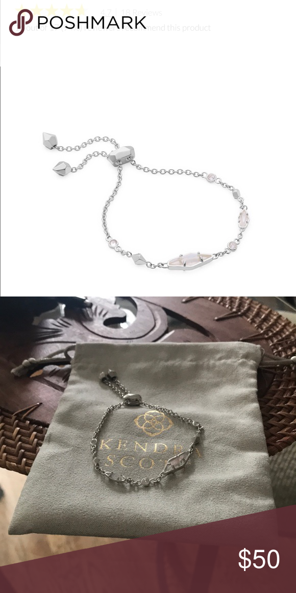 5d57498b557a5a Kendra Scott Deb Adjustable Chain Bracelet Kendra Scott Deb Adjustable  Chain Bracelet in Silver. New without tags. Never been worn. Comes with  small bag.