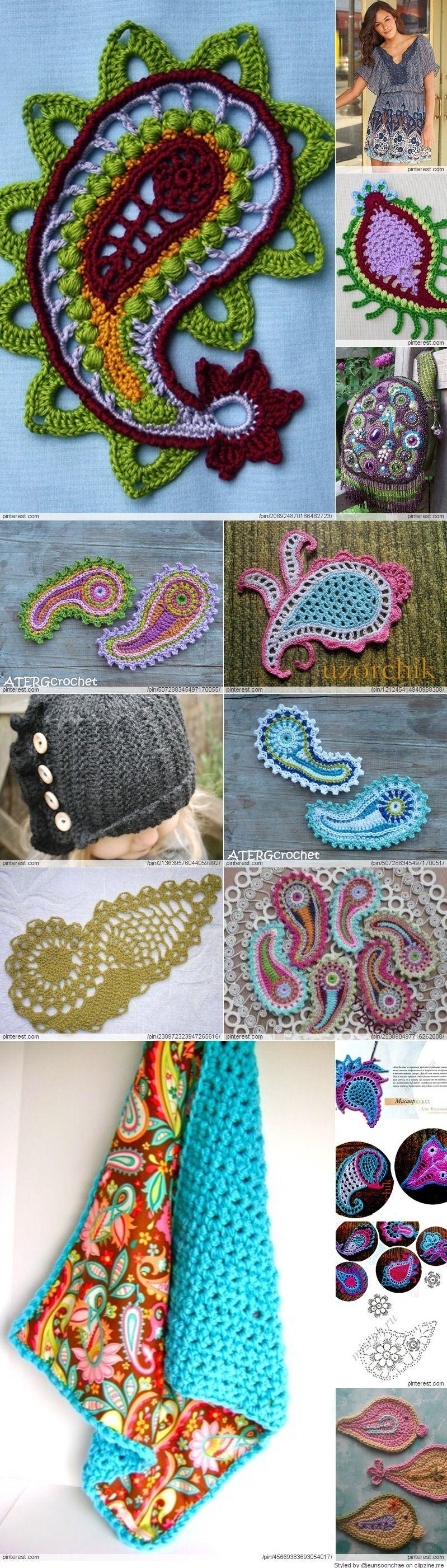 Crochet Paisley Patterns Sewing Pinterest Crochet Crochet