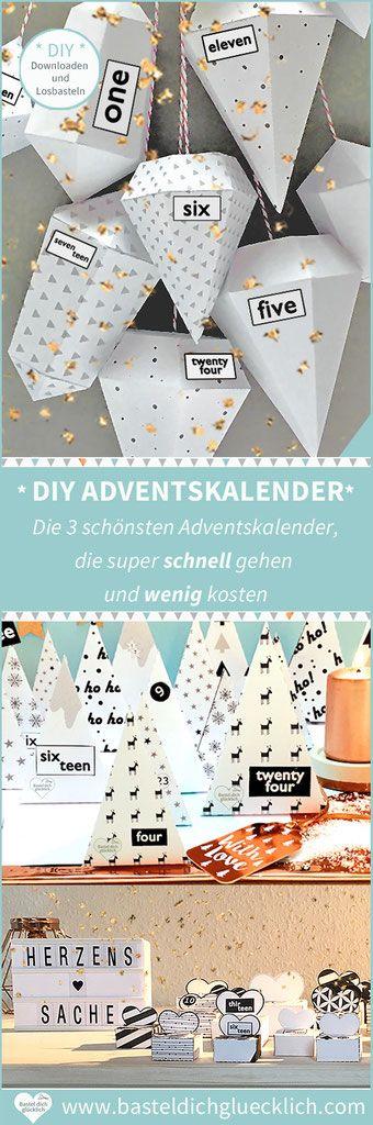 DIY ADVENTSKALENDER BASTELN - Die 3 schönsten Adventskalender, die super schnell gehen und wenig kosten #adventskalendermann