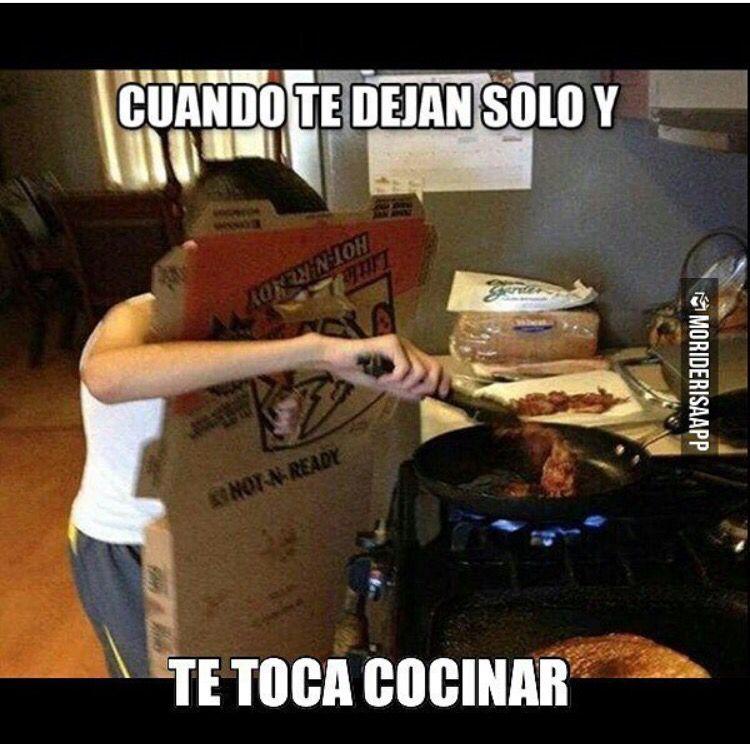 Cuando No Sabes Cocinar Funny Memes Cooked Breakfast Funny Jokes