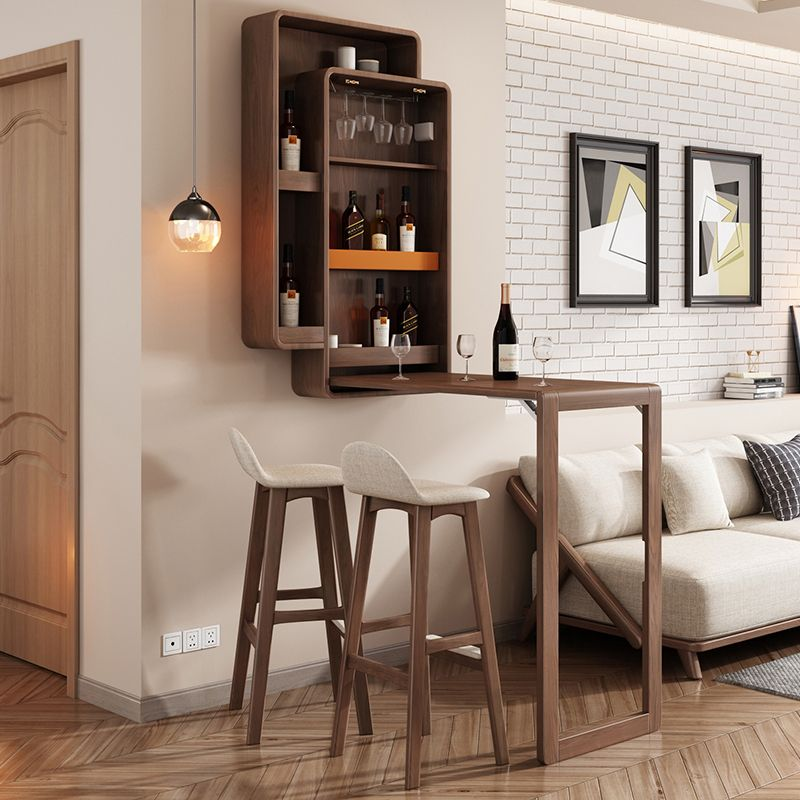Nordic Folding Bar Table Household High Foot Simple Modern Wall Wine Cabinet Living Room Creative Partition C In 2020 Living Room Bar Bar Dining Table Home Bar Counter