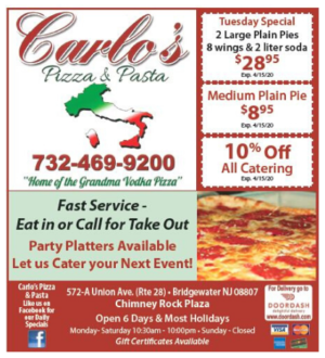 Coupon Carlo's Pizza & Pasta in 2020 Pizza pasta, Pasta