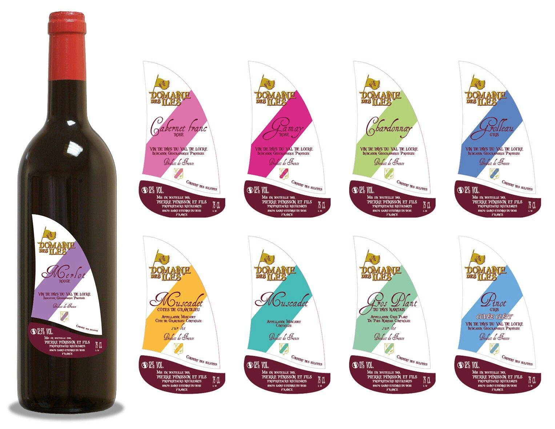 Création de la gamme des vins tranquilles pour le Domaine des Îles