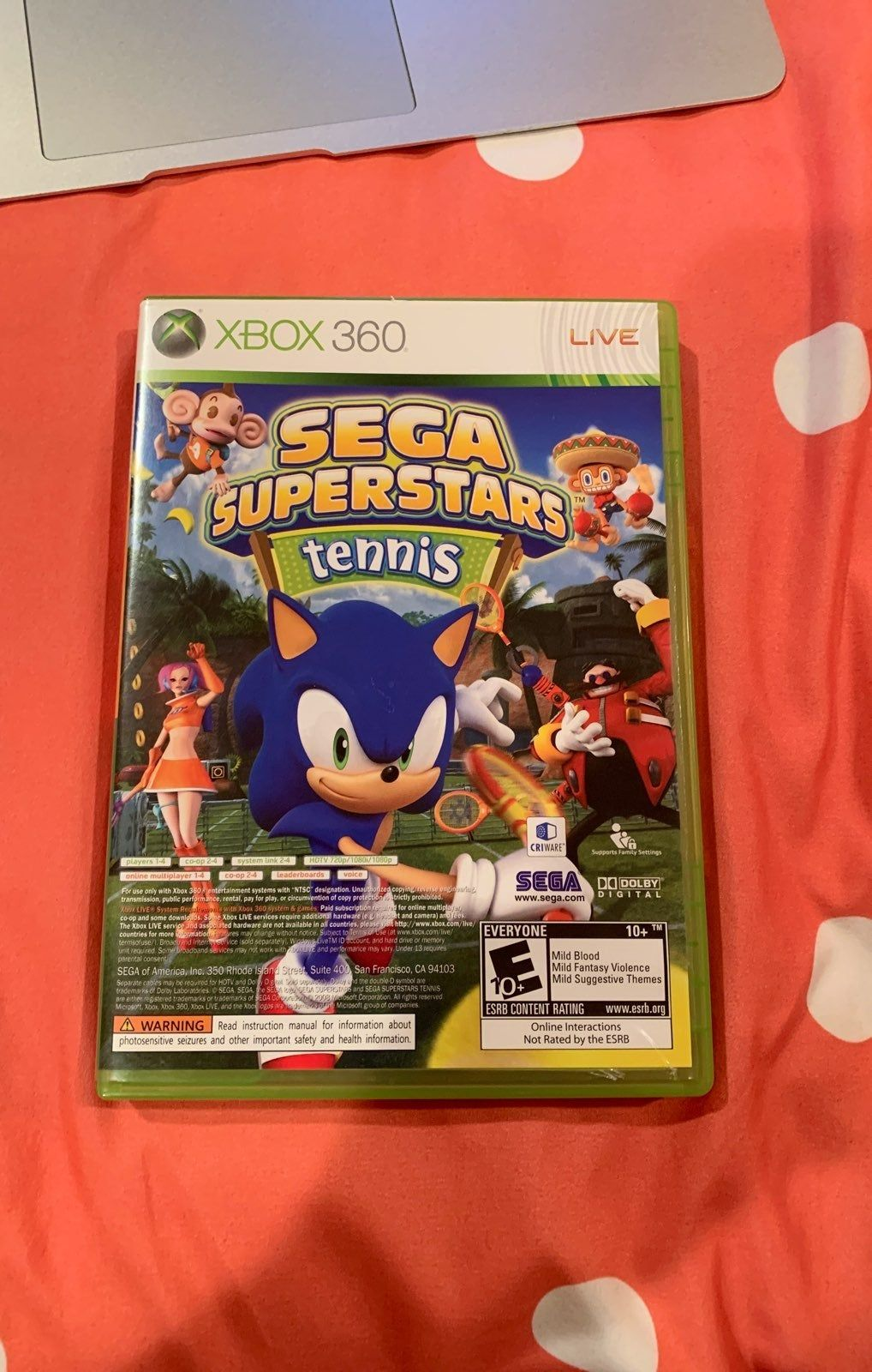 Check Out My Sega Superstars Tennis 2 Games Included Like New Fully Functional Sega Xbox Baseball Cards