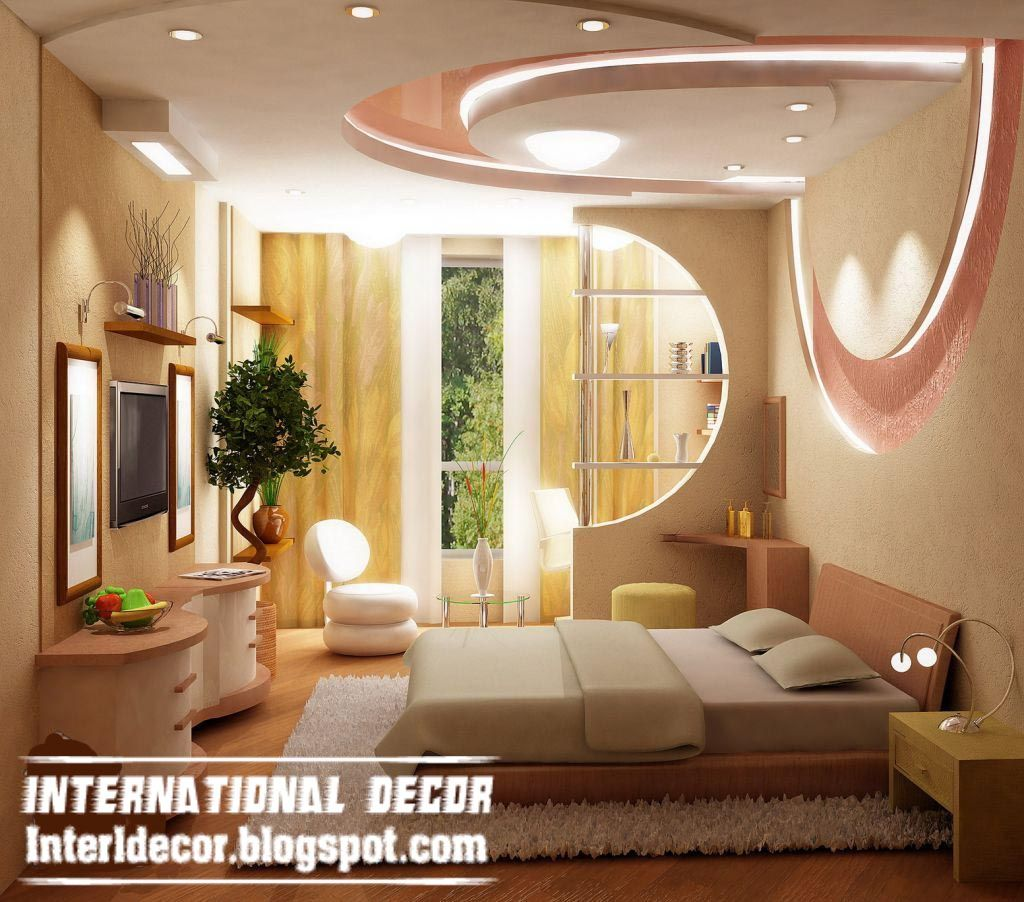 Modern master bedroom ceiling designs - Modern Pop False Ceiling Designs For Bedroom Interior Gypsum False Ceiling