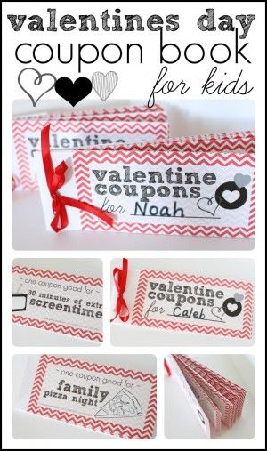 Free ValentineS Day Coupon Book For Kids  Coupons Money Saving