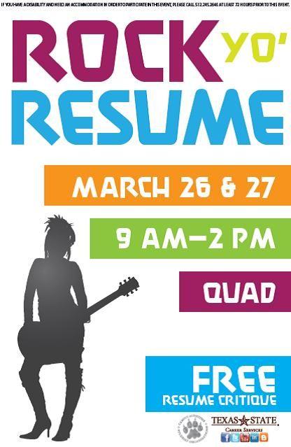 In preparation for the Spring Job \ Internship Fair, Career - resume critique