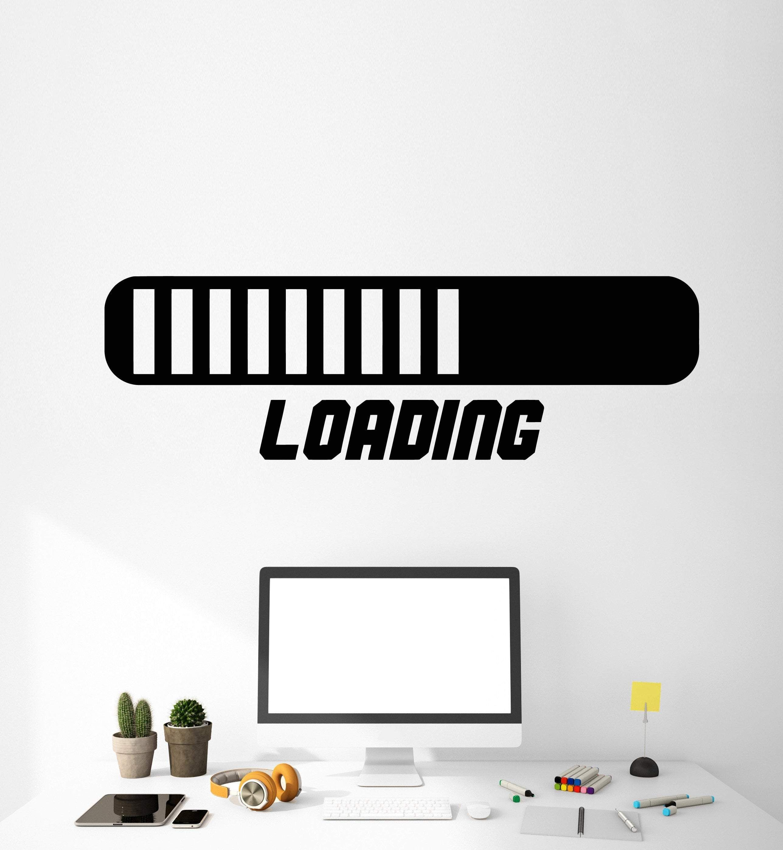 vinyl wall decal loading video game gamer room stickers on wall stickers for hall id=62814