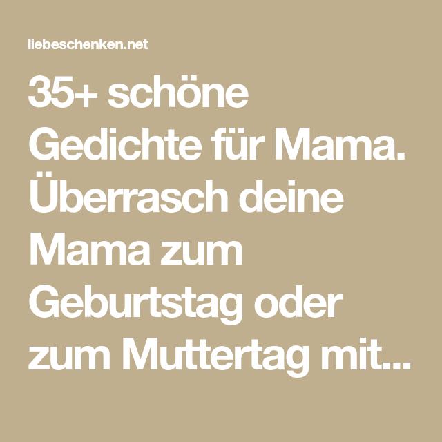 Gedichte Für Mama Geburtstags Muttertagsgedichte Lieder