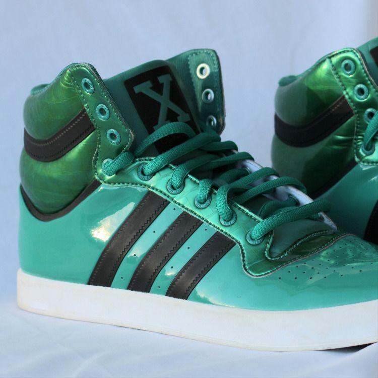 Adidas Mens Green High Top X Size 12 Basket Ball | Adidas men, Men ...