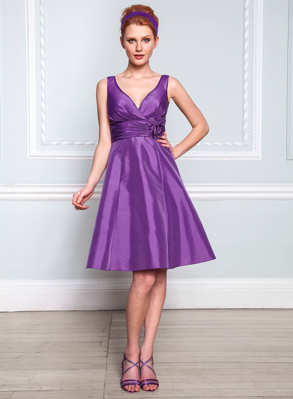 Cecilia Purple Taffeta Bridesmaid Dress - purple - bridesmaid ...