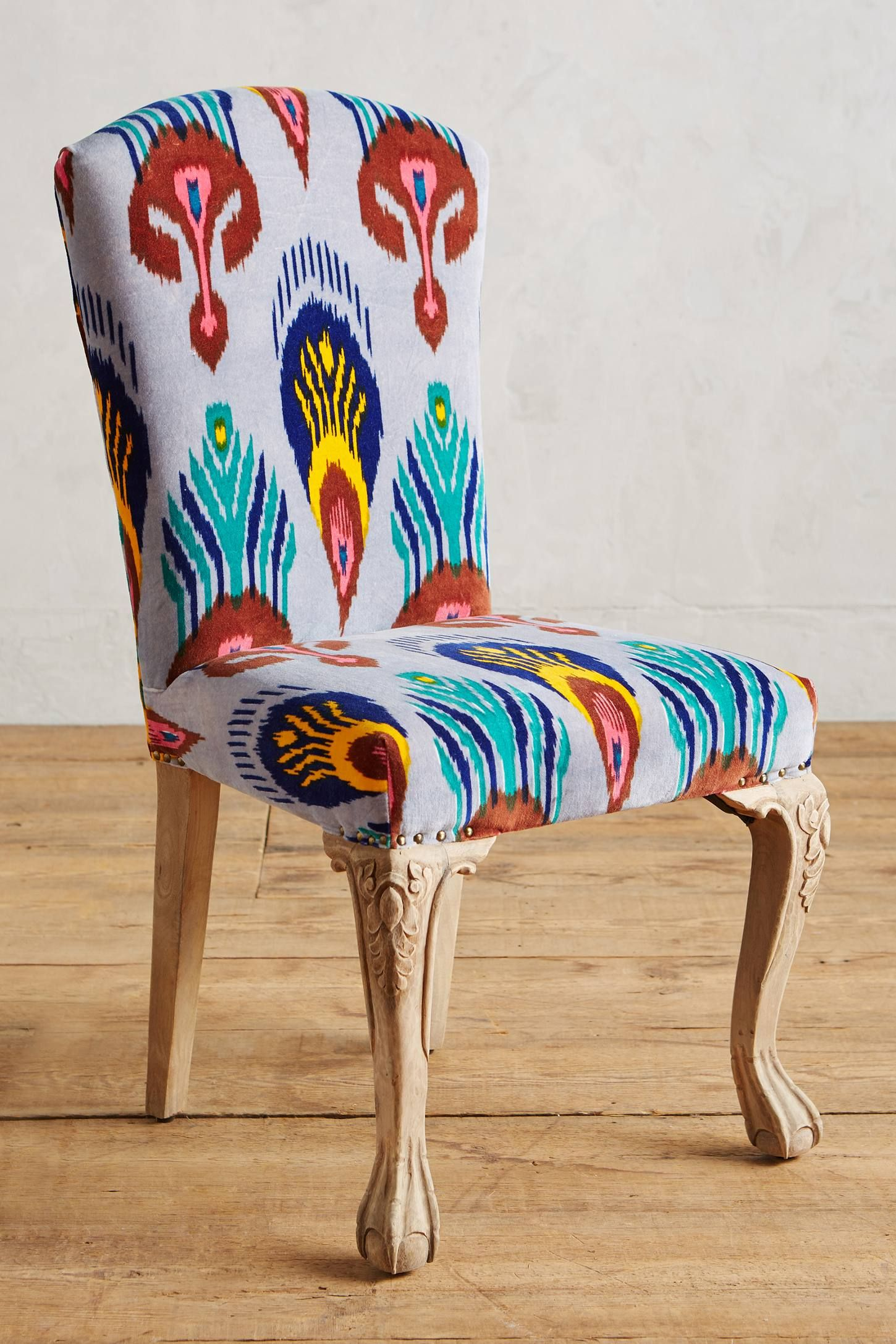 Marialle Ikat Dining Chair Dining Chairs Warm Dining Room