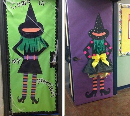 Manualidades 12 ideas para decorar la puerta de clase en for Decoracion puertas halloween