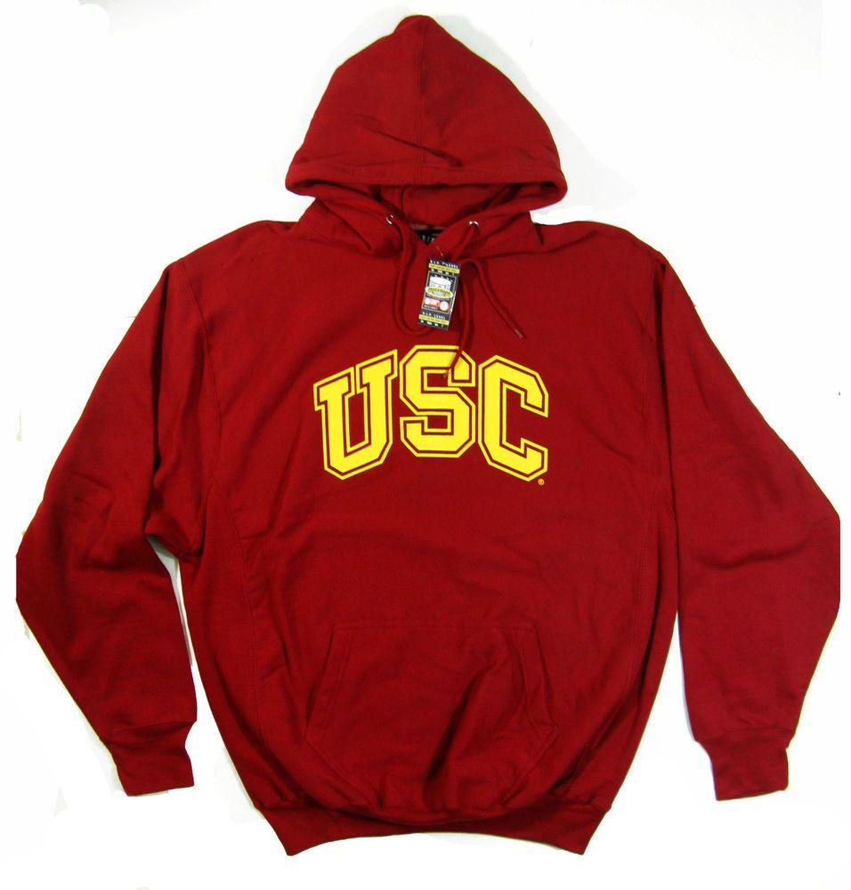 38af10b6 USC Hoodie Men's XL Hooded Sweatshirt Red Steve and Barry's RARE NEW With  Tags #SteveandBarrys #Hoodie