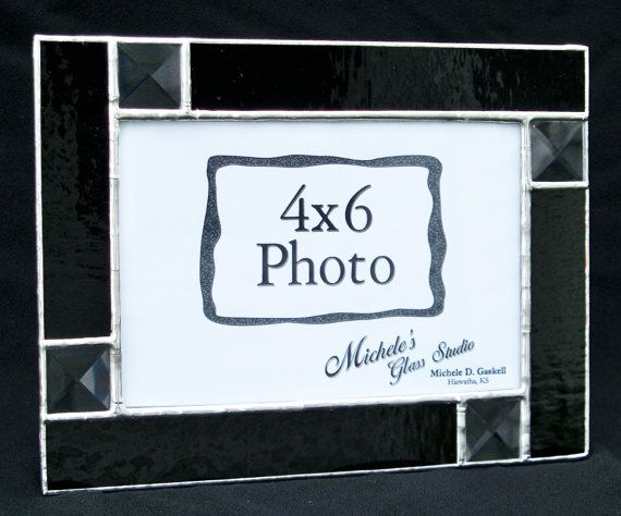 Made To Order 4x6 Onyx Black Stained Glass By Michelesglassstudio