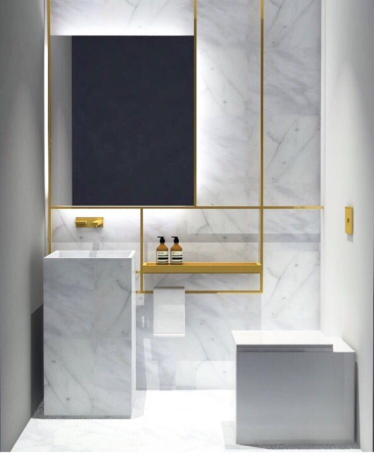 Salle de bain marbre carrere Carrara marble bathroom #design #decor