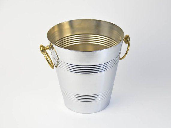 Vintage Chrome Champagne Bucket