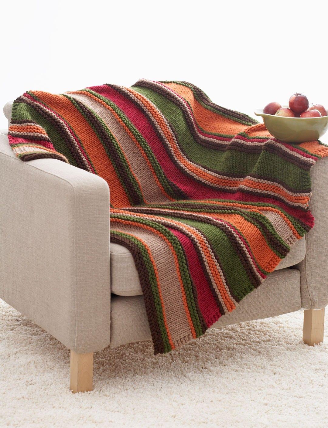 Yarnspirations.com - Bernat Basic Stripes Blanket - Patterns ...