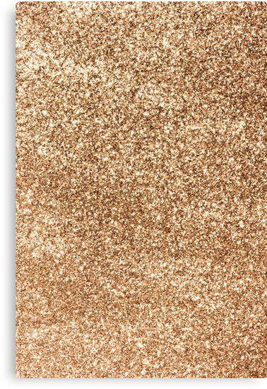 'Sparkly Gold Glitter' Canvas Print by newburyboutique