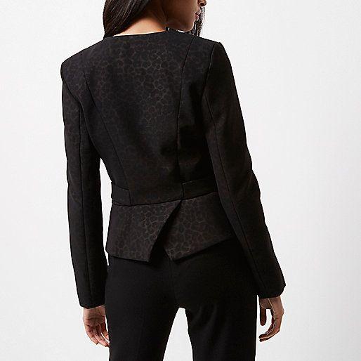 Manteau femme imprime marron