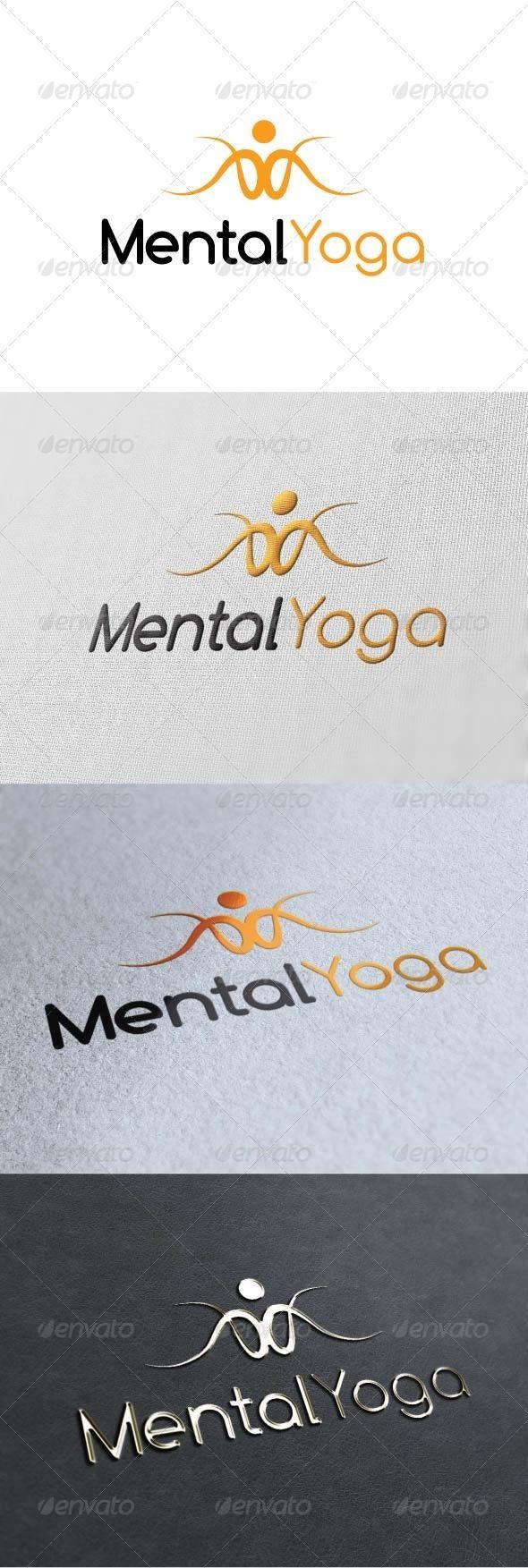 Mental Yoga Logo Template GraphicRiver Re sizable Vector
