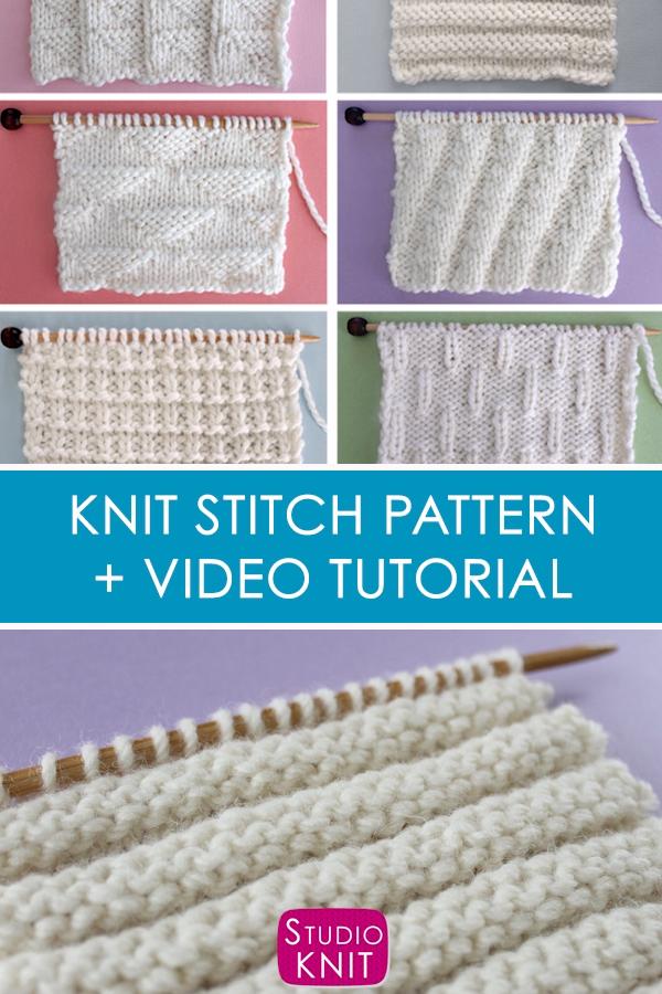 Photo of Reverse Ridge Knit Stitch Pattern