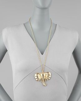 Y18DC Jules Smith Elephant Pendant Necklace