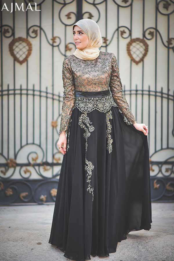 5d4cd11f4c843 classy-soiree-hijab-dress- Beautiful hijab evening dresses | gowns ...