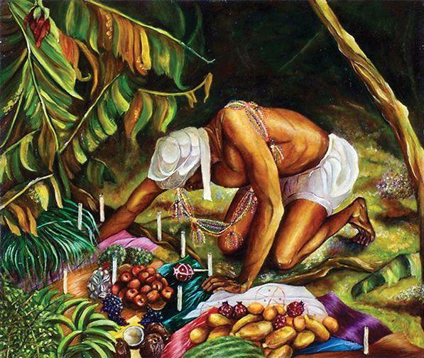 """Ofrendas La Ceiba"""" by Gerardo Castro, painting professor in NJCU ..."""