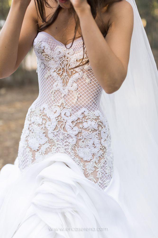 J\'Aton couture wedding gown - real wedding © Erica Serena 2014 Photo ...