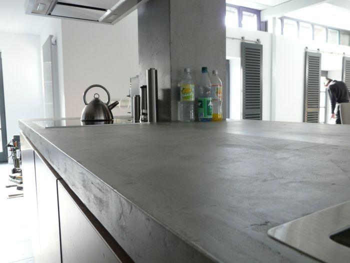 Die stabile Kücheneinrichtung: Beton-Arbeitsplatte | Beton ...