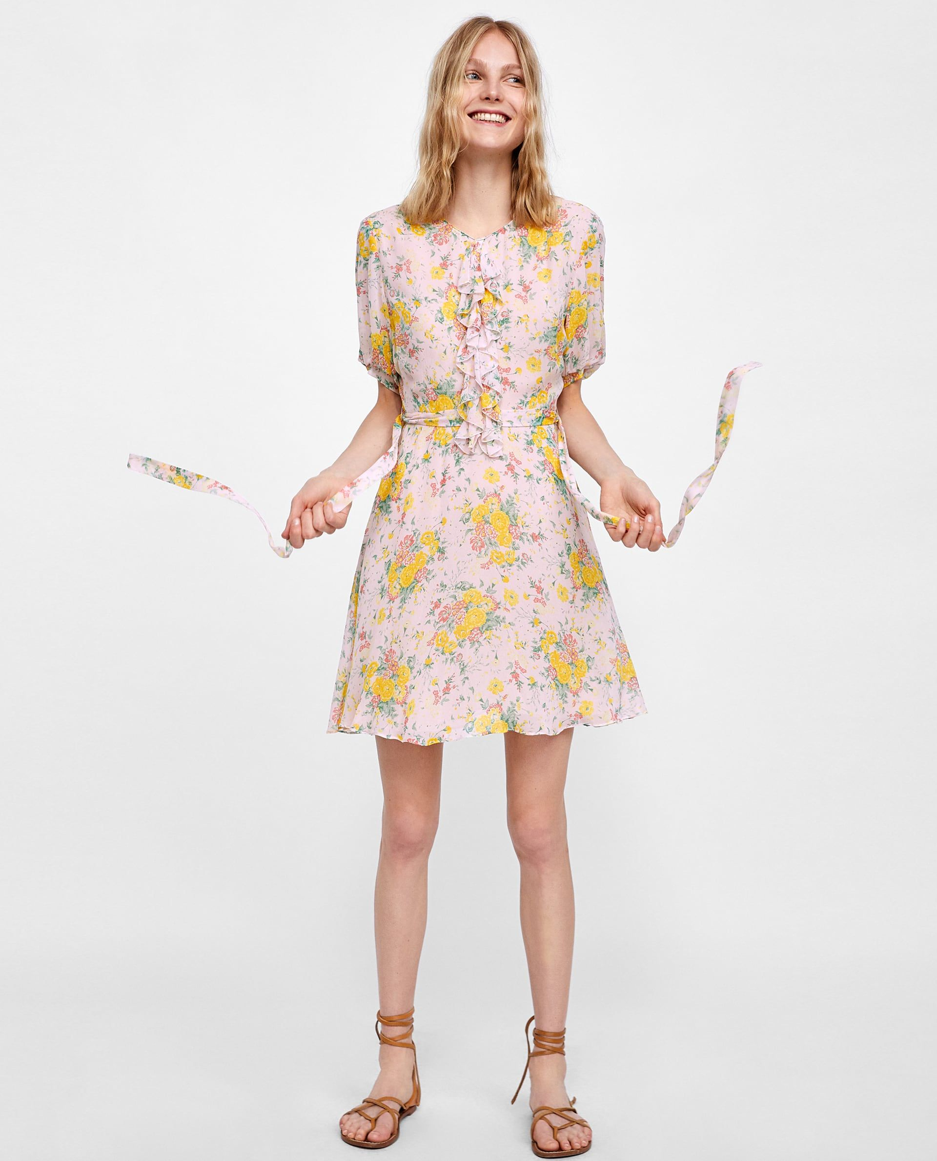 Image 1 Of Floral Print Dress From Zara Dresses Floral Dress Wedding Guest Floral Print Dress [ jpg ]