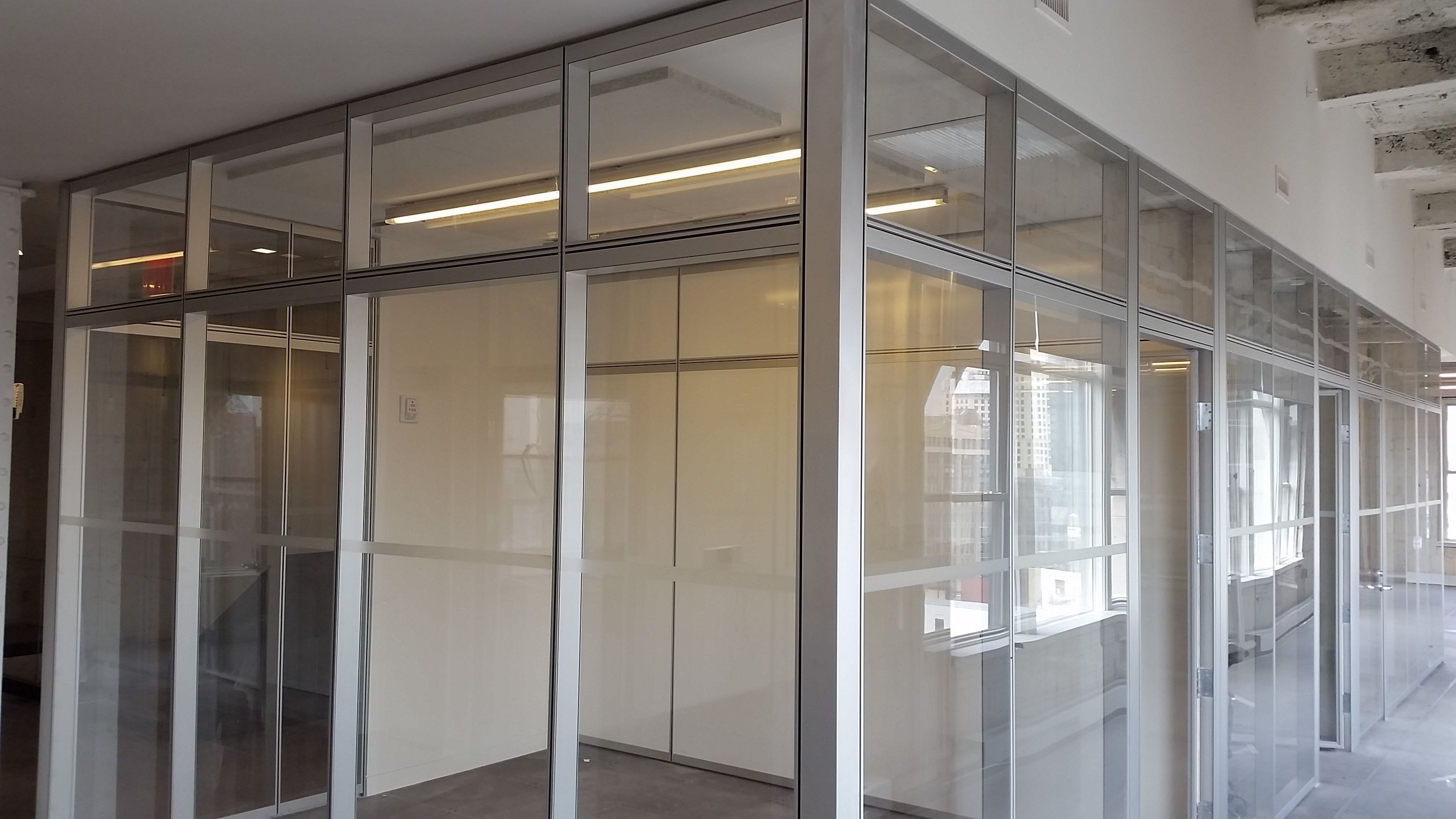 Refine double glazed with stacked transom  Infinium Wall Systems