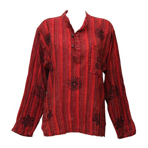 e873a50ad4cfa8 Collarless Acid Wash Shirt