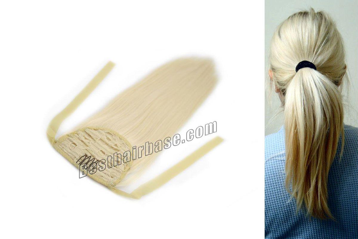 White Blonde Human Hair Ponytail Extension Ponytail